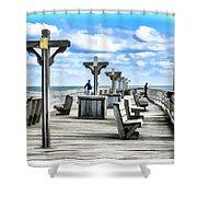 Fishing Pier 13 Shower Curtain