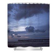 Fishing Pier At Dawn Shower Curtain