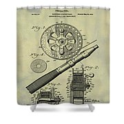 Fishing Reel Patent 1906 Vintage Shower Curtain