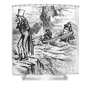 Fishing Rights, 1877 Shower Curtain
