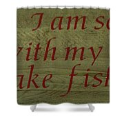 Fishing Rod Shower Curtain