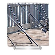 Fishing Rods Shower Curtain