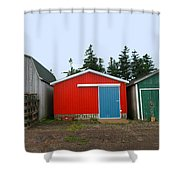 Fishing Shacks  Prince Edward Island  Canada Shower Curtain