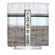 Fishing Sign Shower Curtain