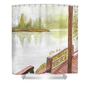 Fishing Spot Shower Curtain