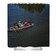 Fishing The Bypass Canal  Shower Curtain