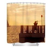 Fishing The Gulf Shower Curtain