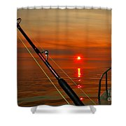 Fishing The Midnight Sun Shower Curtain