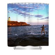Fishing The Nubble Shower Curtain