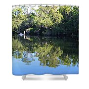 Fishing The Withlacoochee River. Shower Curtain