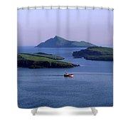 Fishing Trawler, Blasket Islands, Co Shower Curtain