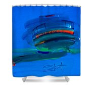 Fishing Trawler Hastings Stade Shower Curtain