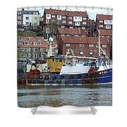 Fishing Trawler - Whitby Shower Curtain
