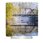 Fishing Under The Trestle Shower Curtain