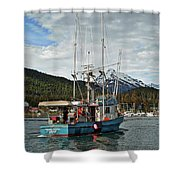 Fishing Vessel Chinak Shower Curtain