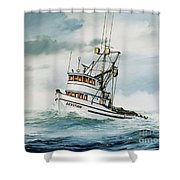 Fishing Vessel Devotion Shower Curtain