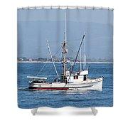 Fishing Vessel Sun Ra Shower Curtain