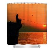 Morning Fishing 2 Shower Curtain