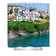 Fishing Village Bali Shower Curtain