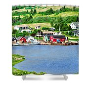 Fishing Village In Prince Edward Island Shower Curtain