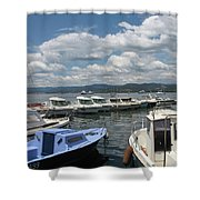Fishingboats Shower Curtain