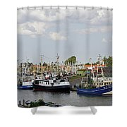 Fishingport Buesum Shower Curtain