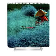 Fishnet Shower Curtain by Okan YILMAZ