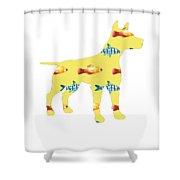 Fishy Dog Shower Curtain