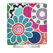 Five Blooms Shower Curtain