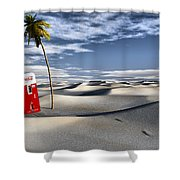 Five Cent Oasis Shower Curtain