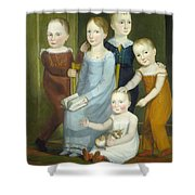 Five Children Of The Budd Family Shower Curtain