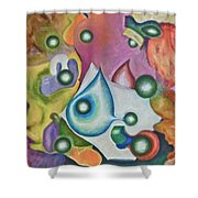 Five Faces Shower Curtain