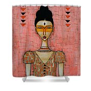 Five Feathers Shower Curtain