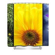 Five Flower Composite Shower Curtain