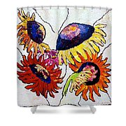 Five In Hand Shower Curtain