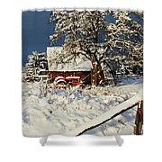 Five Mile Winter's Barn #9862 Shower Curtain