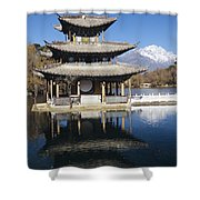 Five Pheonix Pavilion Shower Curtain