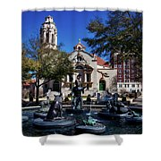 Five Points Fountain Shower Curtain