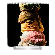 Five Scoops Of Ice Cream Shower Curtain