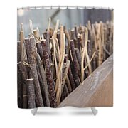 Five, Six Pick Up Sticks Shower Curtain