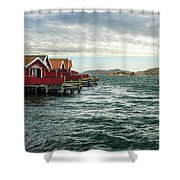 Fjallbacka Huts Shower Curtain