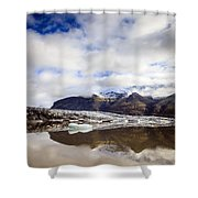 Fjallsarlon Glacier Lagoon Shower Curtain