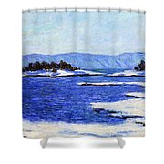 Fjord At Christiania Shower Curtain