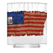 Flag 2 Shower Curtain