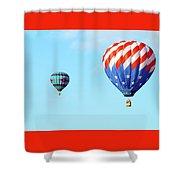 Flag Balloon Shower Curtain