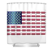 Flag Bottles3 Shower Curtain
