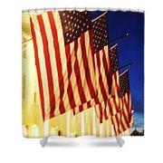 Flag Congress Hall Cape May Nj Shower Curtain