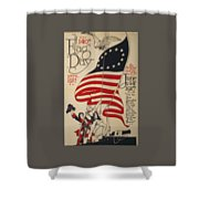Flag Day 1917 Shower Curtain