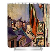 Flag Decorated Street 1906 Shower Curtain
