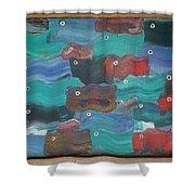 Flag Fish Shower Curtain